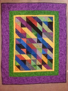 leftover half square triangles quilt