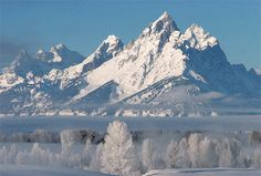 jackson hole national park | The major peaks of the Teton Range as seen from the north are known as ...