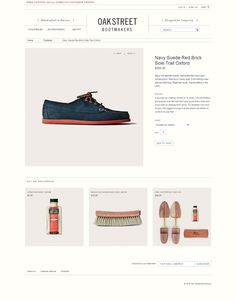 30 Beautiful Product page design: Oak Street Bootmakers