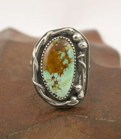 Turquoise vine ring