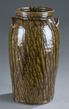 Nelson S. Bass North Carolina Stoneware Jar