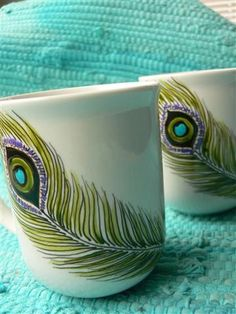 Peacock feather mugs ( I am picky about these things and I love these! )