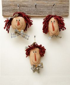 Another great find on #zulily! Doll Head - Set of Three by Your Heart's Delight #zulilyfinds