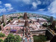 Balarama visited Parashurama in the South which was then called Chera Kingdom. Balarama worshiped Devi at Kanyakumari and Lord Murugan at Valliyur, Tamil Nadu. Chera Kimg Udiyan Cheralathan fed both the Pandya and Kaurava armies during the Kurukshetra War. Pandya  King Malayathdwaja fought alongside the Pandavas during the Mahabharata War and wounded Dronacharya. He was the father of Meenakshi after whom the Madurai Meenakshi Amman Temple is named.