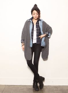 Korean Street Style  When you're ready for fall!  http://en.thejamy.com/goods.php?id=175187