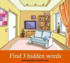 Find 3 Hidden Words in the image
