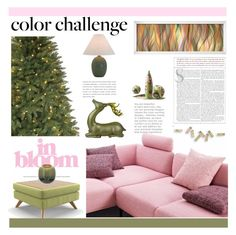 """Green and Blush"" by ana-angela ❤ liked on Polyvore featuring interior, interiors, interior design, home, home decor, interior decorating, Martha Stewart, Joybird, Bloomingville and House of Troy"