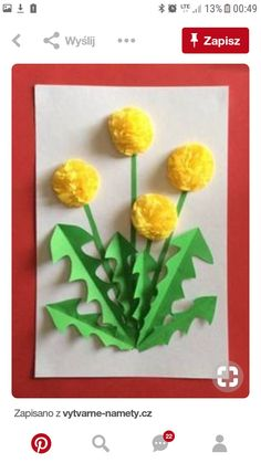 Spring Crafts For Kids, Summer Crafts, Diy For Kids, Kindergarten Art, Preschool Crafts, Easter Crafts, Mother's Day Projects, Projects For Kids, Creative Arts And Crafts
