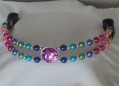 """Jewel It Yourself 16"""" Beaded Rainbow DIY Browband Kit! All the materials you…"""