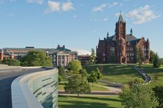 Syracuse University Campus | ... College and Maxwell Hall on Syracuse University campus in the Summer