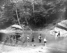 7. Fishing at Downey's Bend, Big Wheeling Creek, Marshall County, 1890