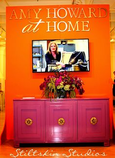 Amy Howard At Home Showroom in Atlanta. Lacquer pink with great hardware. Lacquer Furniture, Painted Furniture, Home Furniture, Amy Howard Paint, Furniture Slipcovers, Home Decor Kitchen, Furniture Makeover, Interior Design Living Room, Recycling