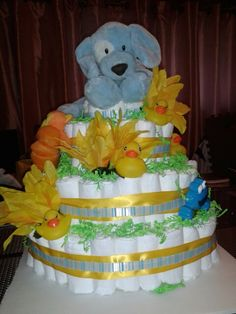Baby Shower diaper cake for boy.