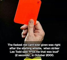 The Fastest Red Card