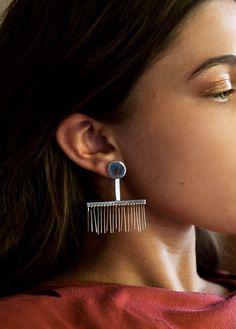 modern fringe earrings