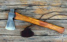 Bautiful hand forged, custom colonial belt axe.