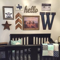 Baby bedding purchase from EverythingSewn91 Navy herringbone baby bedding western chevron arrows cow head print western letter Texas state sign vintage cowboy print art marquee star cattle rancher western gallery wall baby crib