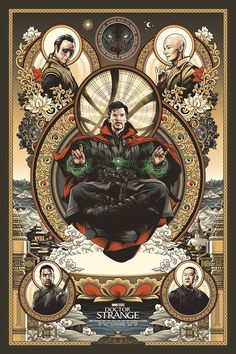 The Geeky Nerfherder: 'Doctor Strange' by Amien Juugo Marvel Doctor Strange, Doctor Strange Poster, Marvel Art, Marvel Dc Comics, Marvel Heroes, Marvel Avengers, Marvel Characters, Marvel Movies, Retro Poster