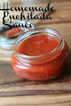 Homemade Enchilada Sauce ~ Once you make your own enchilada sauce, you will never go back to buying it on the shelf. This recipe is both easy in preparation and frugal on your wallet