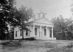 Roswell Presbyterian Church in 1920 from the Georgia Archives.  Roswell was established as a Presbyterian community by the founding families.  Roswell GA