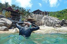 Freediving in Mango Bay Koh Tao - Thailand