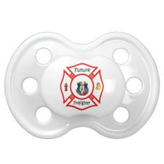Future Firefighter Red Maltese Pacifiers