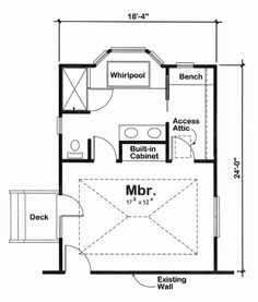 Master Suite Addition Plans | Rear Rendering image of New Master ...