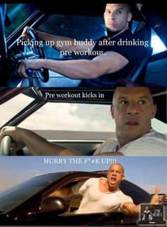 Picking up gym buddy after taking pre-workout Workout Memes, Gym Memes, Gym Workouts, Crossfit Memes, Workout Diet, Fitness Motivation, Fitness Quotes, Fitness Humor, Funny Fitness