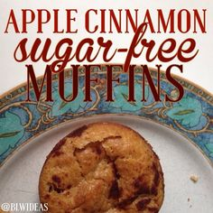 Mix 1.5 cups flour 1 cup applesauce Pinch of salt 2 tsp baking powder 2 tsp cinnamon 1/3 cup veggie oil 2 eggs 1/2 cup milk 1 apple (peeled, cubed) Spray a muffin tin with nonstick spray. Pour your mixture in to about 12 muffins. Sprinkle some cinnamon on top if you'd like. Bake at 400F for 25. Mommy version: mix a little butter, sugar, cinnamon, and flour, and sprinkle it on top of a few for a crunchy finish!