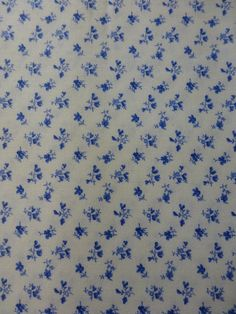 Porcelain Blue~Tiny Flowers on White~Cotton Fabric, Quilt, ~Northcott~20700-10