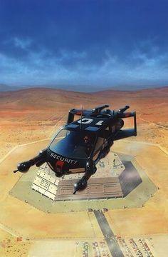 future, futuristic, flying vehicle, flying car, sci-fi, retro future, Peter Elson, sci-fi art, futuristic car, futuristic vehicle by FuturisticNews.com