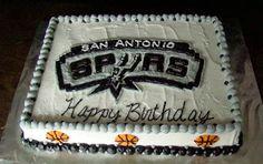 Spurs Basketball Cake