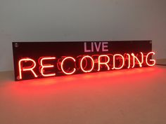 Live RECORDING Neon Light Sign by Andesigneon on Etsy