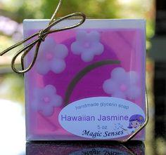 Hawaiian Jasmine glycerin soap by www.MagicSenses.com