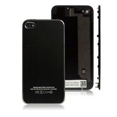 Brushed Metal Replacement Battery Cover for iPhone 4S(Black)