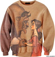 Beauty and the Beast Sweat Shirt. Sweater Weather, Disney Outfits, Cute Outfits, Disney Clothes, Cute Fashion, Womens Fashion, Disney Fashion, Hipster, Vogue