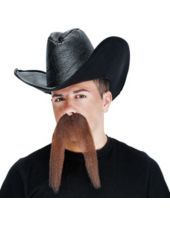 Moustache Western Assortment Adult 4pcs -Beards, Facial Hair -Costume Accessories -Halloween Costumes - Party City
