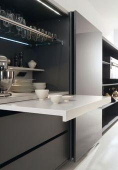 Kitchen Pantry Design, Home Decor Kitchen, Kitchen Living, Kitchen Furniture, Home Kitchens, Modern Kitchen Interiors, Modern Kitchen Cabinets, Modern Kitchen Design, Interior Design Kitchen