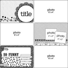 Love this for Project Life for for an easy spread Project Life Scrapbook, Project Life Album, Project Life Layouts, Project Life Cards, Scrapbook Layout Sketches, Scrapbook Templates, Card Sketches, Scrapbook Cards, Couple Scrapbook