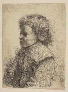Portrait of a Boy, in Profile Rembrandt (Rembrandt van Rijn) (Dutch, Leiden 1606–1669 Amsterdam)  Date:     1641 Medium:     Etching