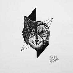 "181 curtidas, 4 comentários - Kozma Richárd (@ricsi.kozma) no Instagram: ""Another tattoo design for @anxified #wolf #owl #wolfdrawing #owldrawing #drawing #drawings #animals…"" #tattoo #tattooart #wolftattoo"