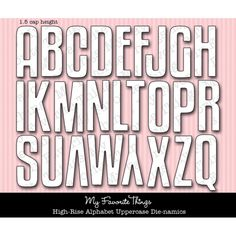 Die-namics High-Rise Alphabet Uppercase; great size 1.5