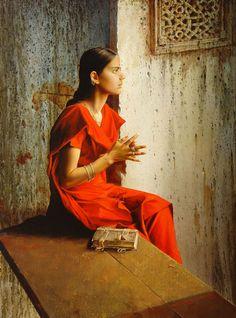 Stanislav Plutenko girl in red sari