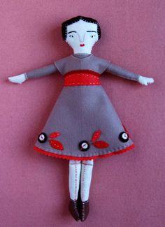 the dress, craft patterns, felt doll