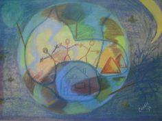 Children Of The World, pastel op papier, 30x42, 1994 (out)