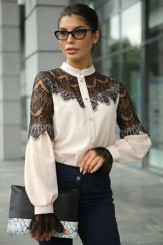 50 Shirts Blouses For Starting Your Winter - Daily Fashion Outfits Trendy Fashion, Boho Fashion, Girl Fashion, Womens Fashion, Fashion Design, Fashion Trends, Fashion Ideas, Fashion Inspiration, Winter Fashion
