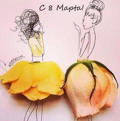 Gorgeous and creative flower art. Art Floral, Inspiration Art, Art Inspo, Art Amour, Arte Fashion, Illustration Mode, Wow Art, Illustrators On Instagram, Art Design