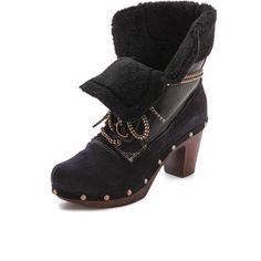Penelope Chilvers Hiker Clog Booties - Black