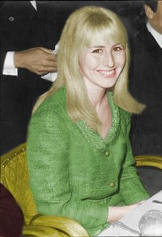 luvulikeguitars: Cynthia Lennon attends the Foyles Literary Guild Luncheon honoring John's first book, In His Own Write. (1964) Colored by me. Beautiful! She was such a class act. Love this! I've seen actual colored pictures where Cynthia's dress was yellow