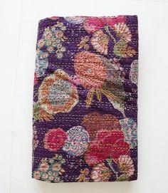 Queen Bed Cover or Queen Blanket Dark Purple. $108.00, via Etsy.